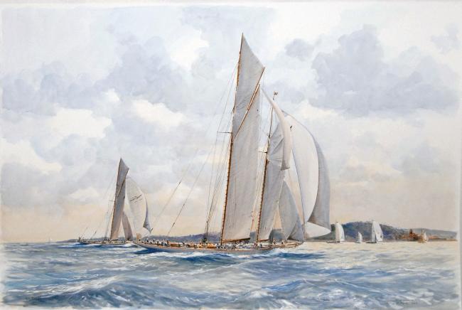 Guy LHOSTIS - Voiles de St Tropez 118X78