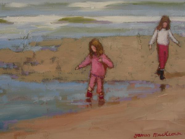 james  MacKeown - Deux petites filles
