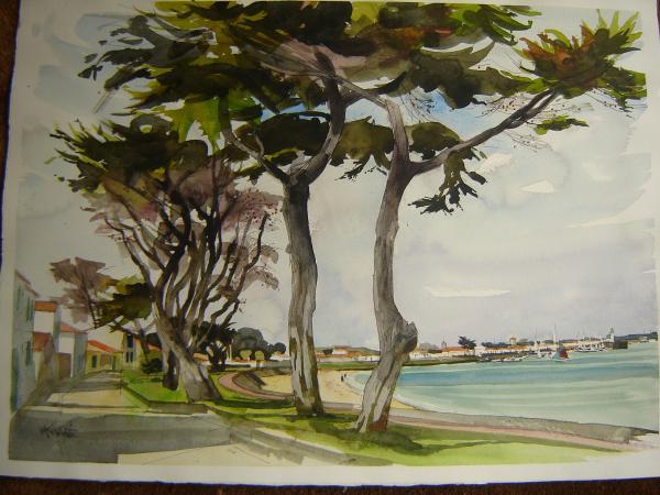 KING Michel - La Flotte , avenue de la plage