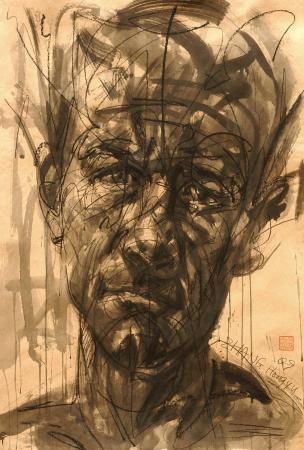 Hongyu ZHANG - Portrait sur kraft