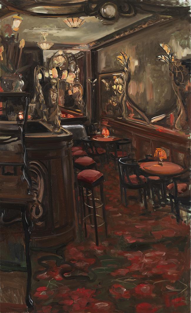 Christoff DEBUSSCHERE - 34 - Le bar chez Maxim's - 80M (146X89 cm)
