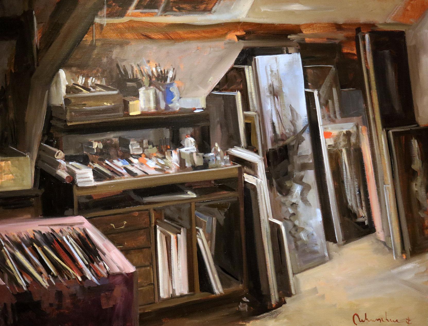 Christoff DEBUSSCHERE - 86 - Les pinceaux - 50F (116X89 cm)