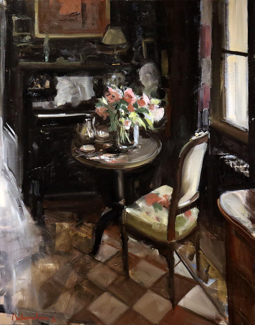 Christoff DEBUSSCHERE - 74 - Le piano et le bouquet - 30F (92X73 cm)
