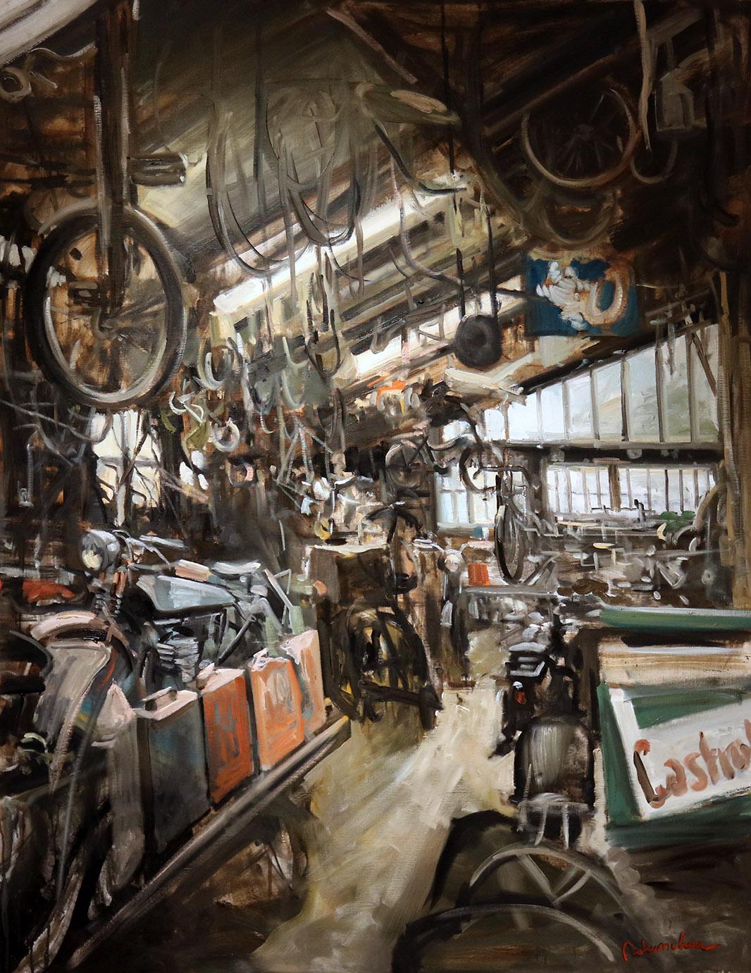 Christoff DEBUSSCHERE - 61 - Le garage en Bourgogne - 80F (146 x 114 cm)