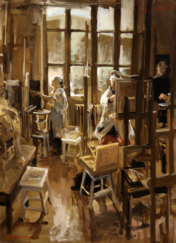 Christoff DEBUSSCHERE - 91 - Les 3 élèves du dimanche - 60F (130 x 97 cm)