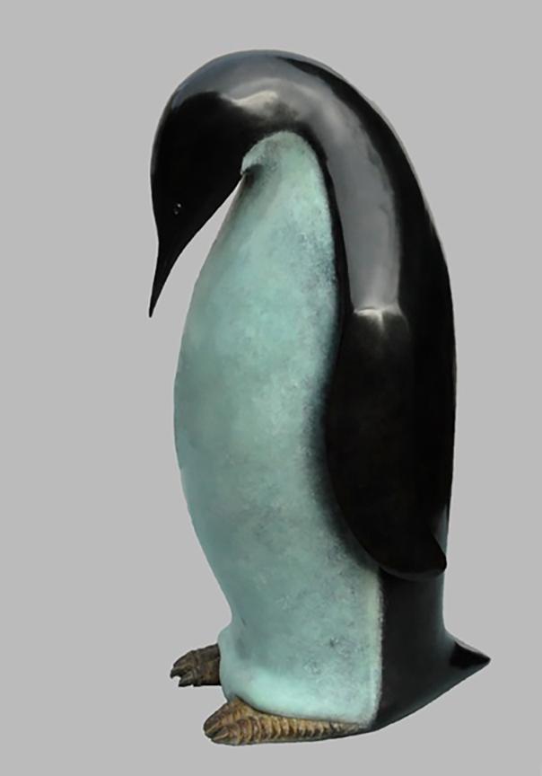 Lemonnier - Manchot, bronze, H 50, 30, 22 cm