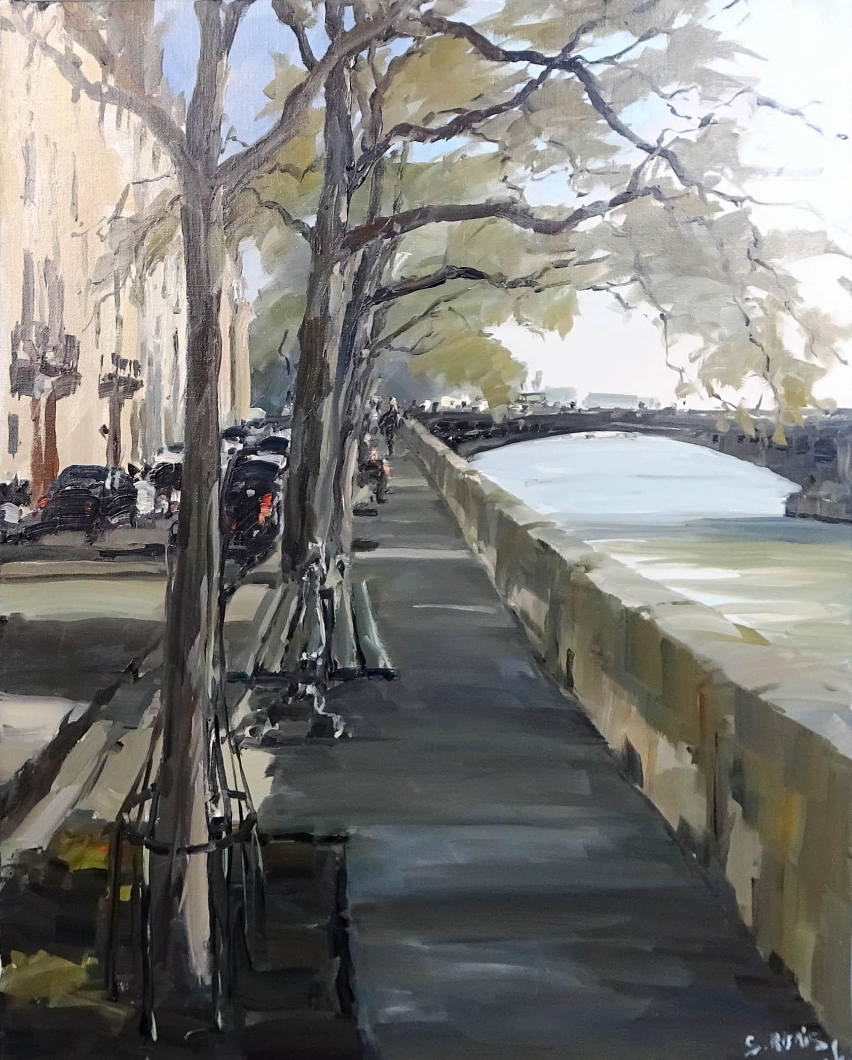 Stéphane RUAIS - n°46 Quai de Bethune-Pont Sully 15P 65X50cm - Huile sur toile