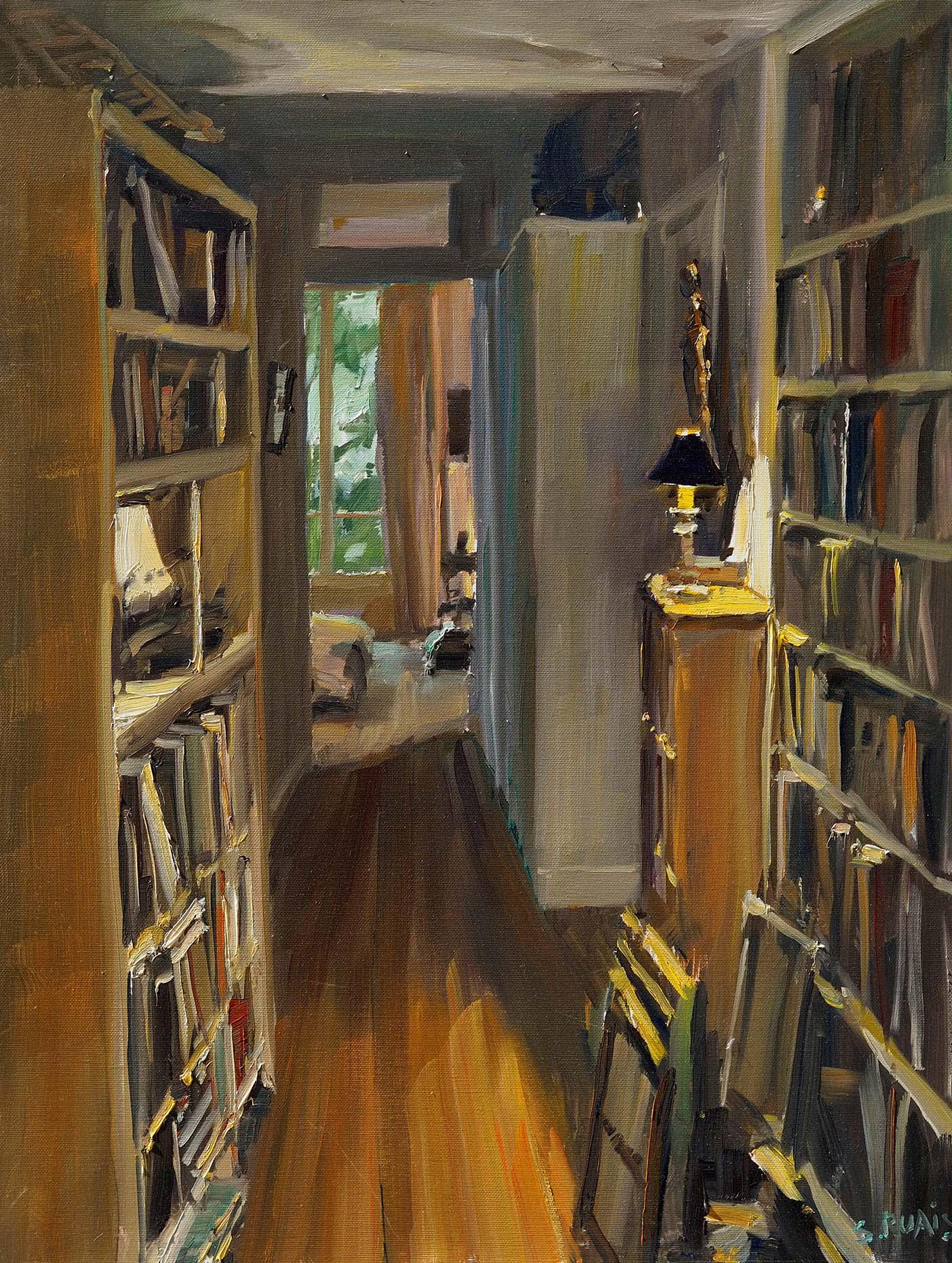 Stéphane RUAIS - n°16 Couloir 15P 65X50cm - Huile sur toile