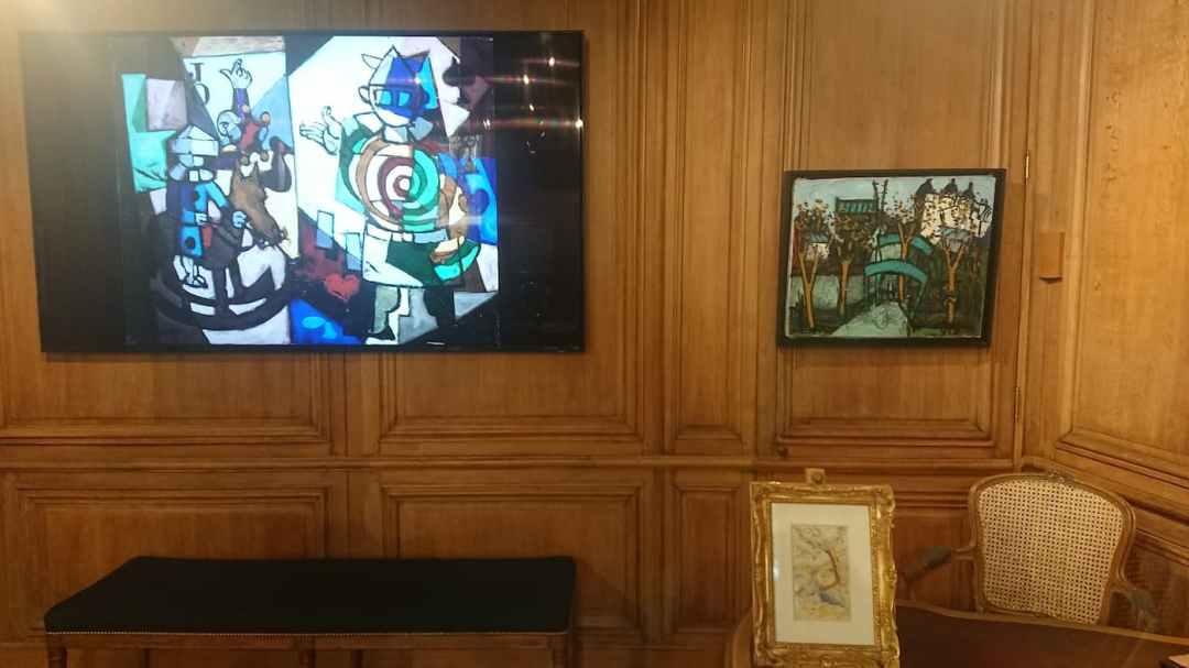 4. Claude VENARD   53 x 65 cm - Henri-Edmond CROSS   17,3 cm x 10,5 cm