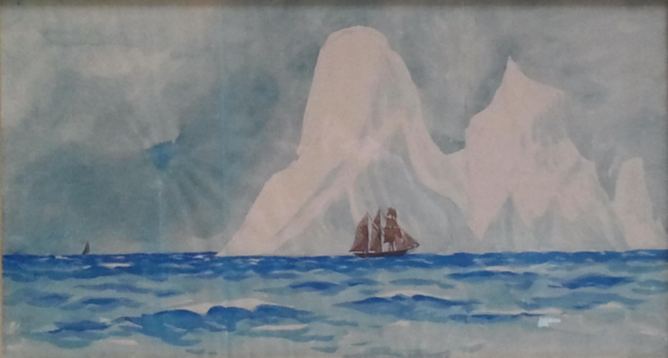 Iceberg et voiliers