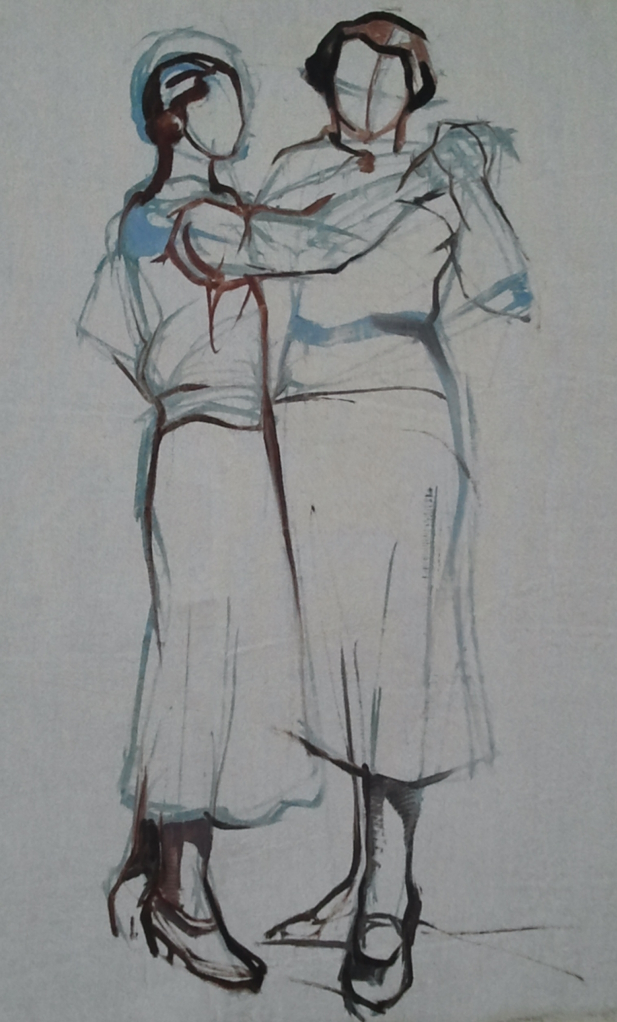 Maud Gérard Deux femmes dansant