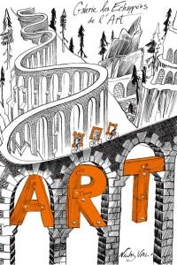 affiche galerie les échappées de l'art