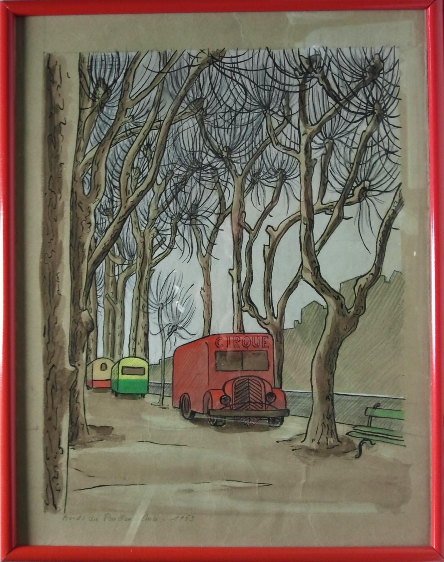 Le cirque Nice Paillon 1953