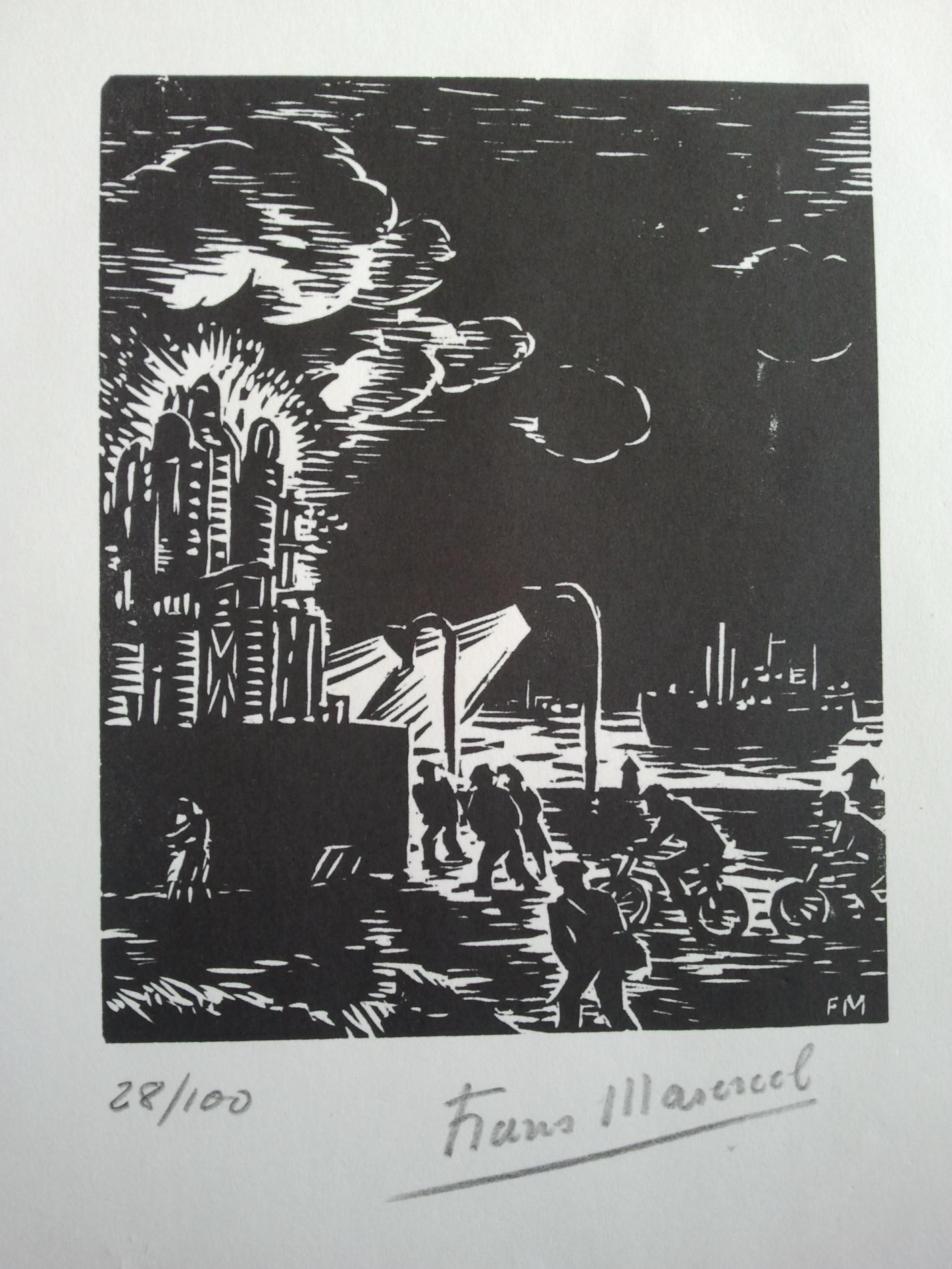 Bois gravé la vie ouvrière Frans Masereel