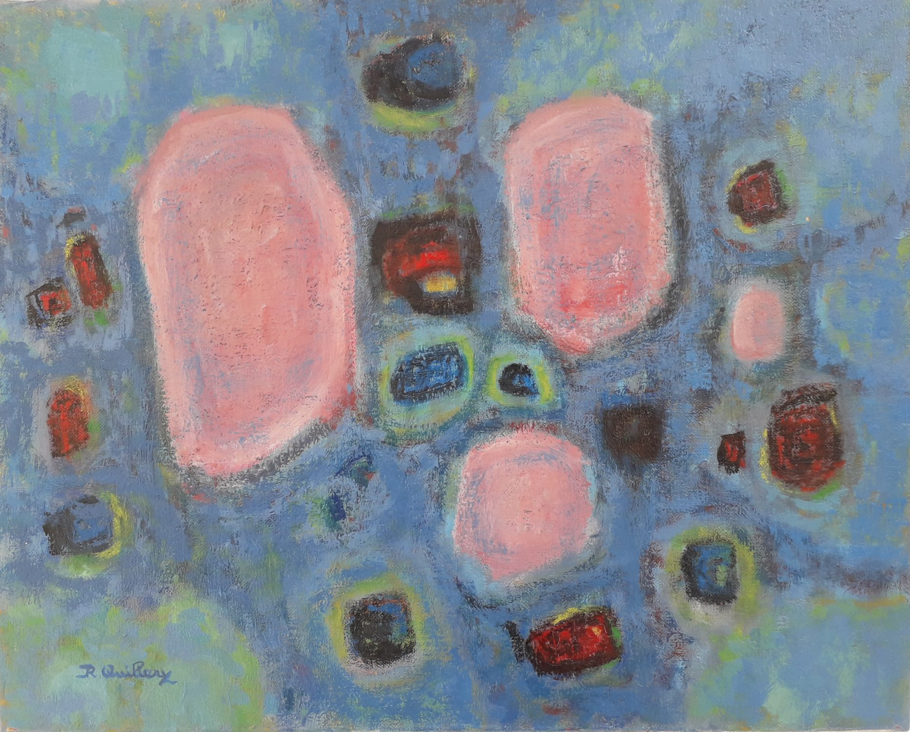 roger-quillery- abstraction-huile-sur-toile