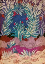 Delphine Chauvet - Jardin violet - 10X15
