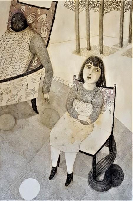 amours-volatiles-100-x-146-crayon-et-gesso-2-détail