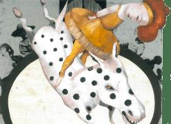 Wer list, ist. Peinture à l'huile sur papier et collage. 24,5x19cm. 550 euros