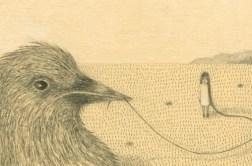Mon petit oiseau (4) Crayon. 10X15cm 110 euros