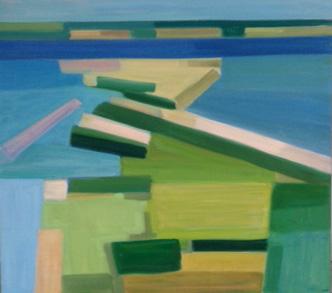2016, Rasmussen, Skaroe rev, 80x90 cm, huile sur toile