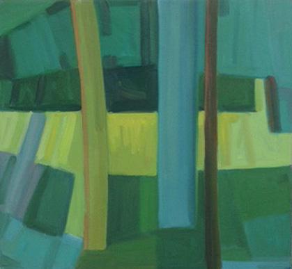 2016, Rasmussen, La forêt, 60x65 cm, huile sur toile