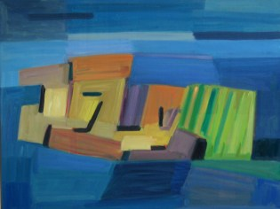 2015, Rasmussen, Les pierres II, 80x110 cm, huile sur toile