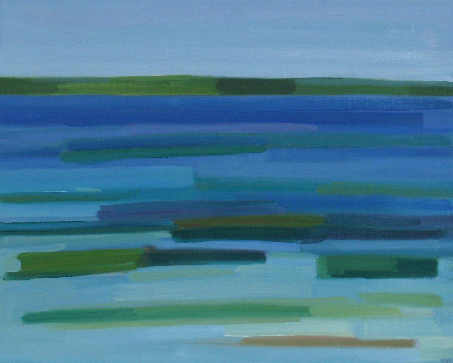 2017, Rasmussen, La mer, 48x60 cm, huile sur toile