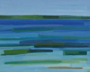 2016, Rasmussen, Le Sund, 48x60 cm, huile sur toile, Disponible à la Réserve
