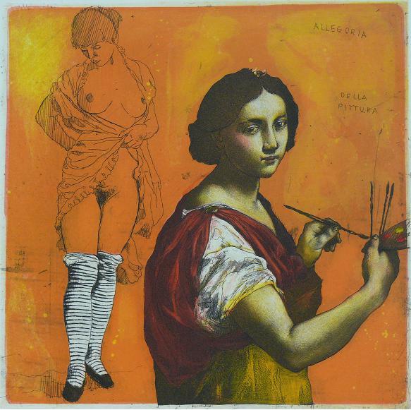 2013, Mair, Allegoria della pittura, Gravure couleur, 29x29 cm