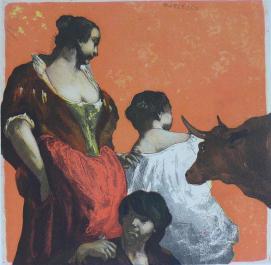 2012, Mair, Burlesco, Gravure couleur, 29x29 cm
