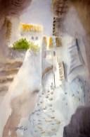 Dagmar Franolić - Kala / Gasse / Alley - 2016, akvarel / watercolour / Aquarelle 50 x 35 cm