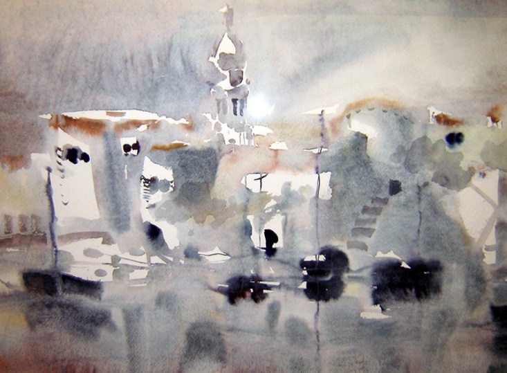 Dagmar Franolić - Krk 2005, akvarel / watercolour / Aquarelle
