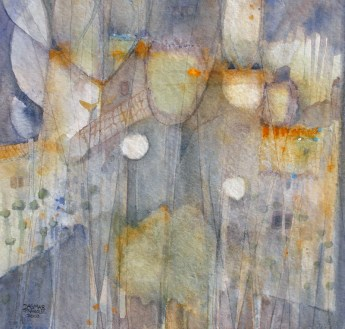 Dagmar Franolić - Listovi / Leaves / Die Blätter, 2008, akvarel / watercolour / Aquarelle, 29 x 29 cm