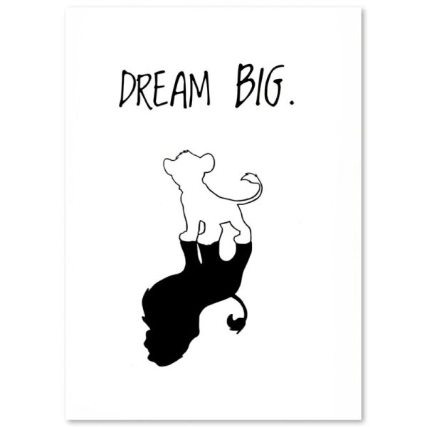 "PLAKAT ""DREAM BIG"" CARTSY FARTSY"