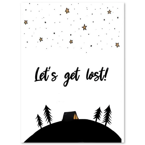 "PLAKAT ""lets get lost"" CARTSY FARTSY"