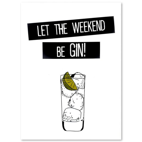 "PLAKAT ""WEEKEND GIN"" CARTSY FARTSY"
