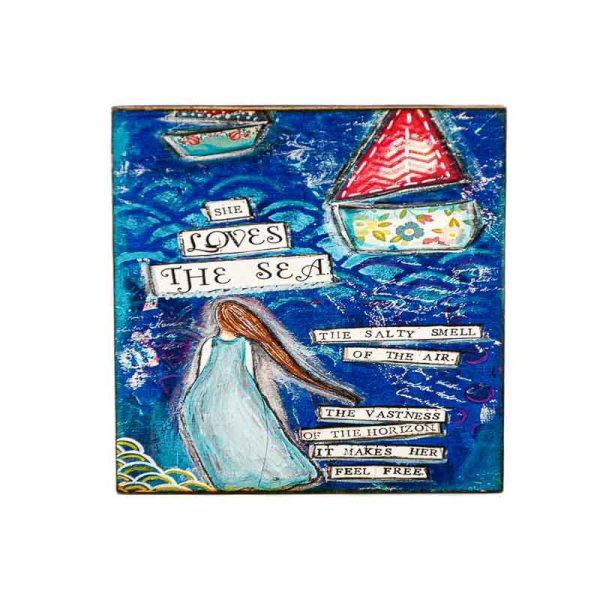 MAGNET SHE LOVES THE SEA-LADY ART TALK