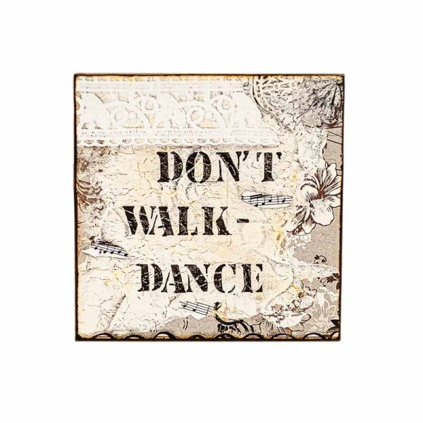 MAGNET DONT WALK-LADY ART TALK