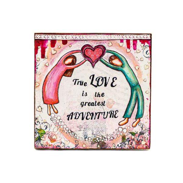 MAGNET TRUE LOVE-LADY ART TALK