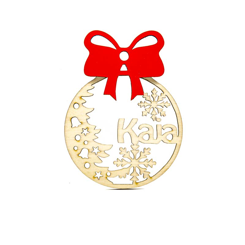 Leseni božični okrasek Kaja@galerijakreativnih.si-hedl