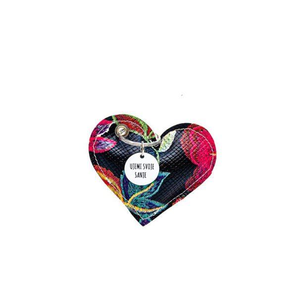 Obesek srce s sporočilom ujemi svoje sanje@galerijakreativnih.si - HEDL