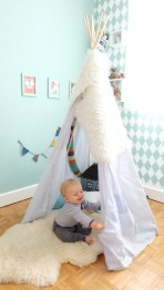 diy un tipi simple et rapide en collaboration avec dawanda charlie s birthday 2. Black Bedroom Furniture Sets. Home Design Ideas