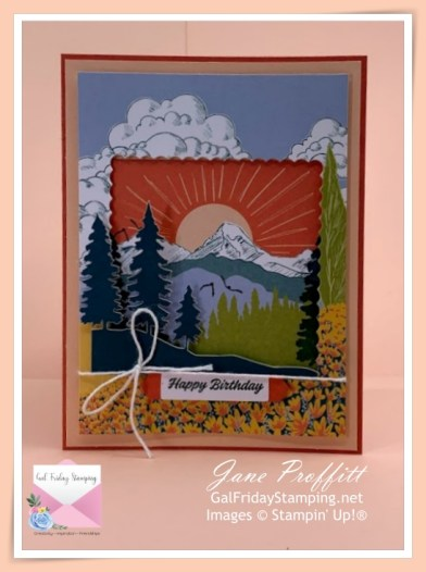 Perfect birthday card that is pretty, simple and quick to create using Paper Pumpkin