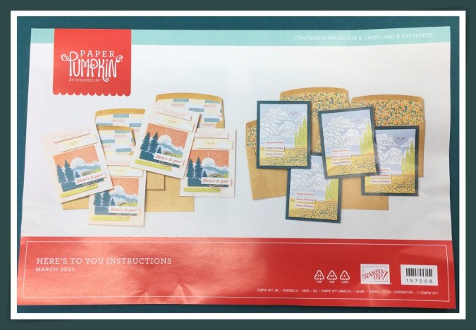 Image of the cards that can be created with the March Paper Pumpkin  kit