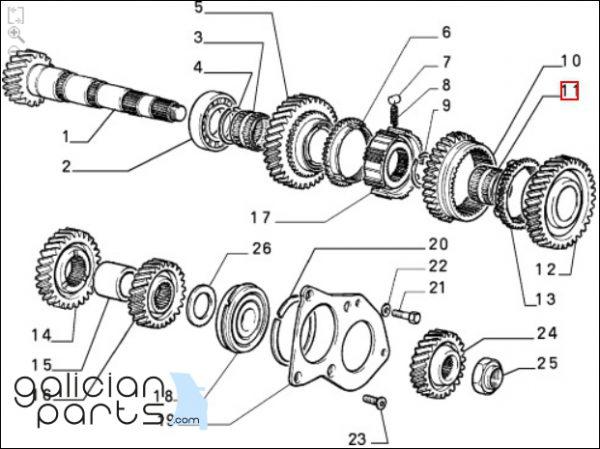 5953103 Rodamiento cambio Lancia / Fiat / Alfa Romeo
