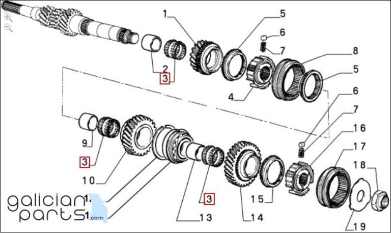 5953097 Rodamiento eje primario Lancia Delta Evoluzione
