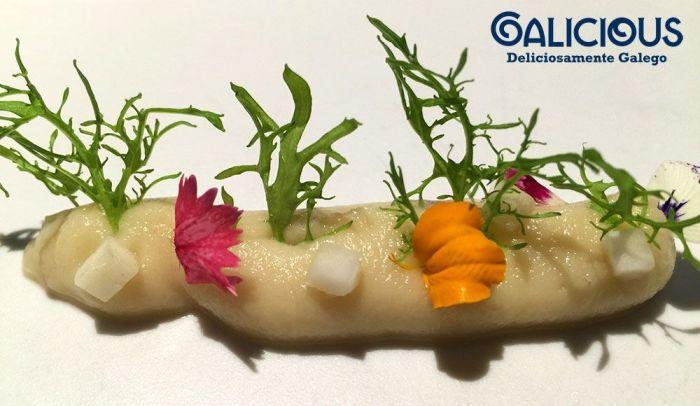Detalle de una de las creaciones de Pepe Solla. Restaurante Casa Solla