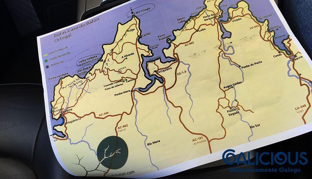 Mapa de Casa do Batan ( Foto de Galicious )