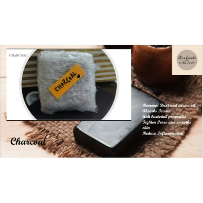 Handmade organic Charcoal soap