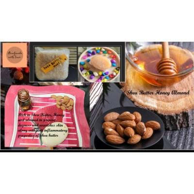 Handmade organic Honey Almond soap